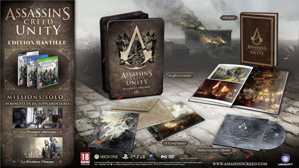 assassin's creed unity bastille collector bon plan